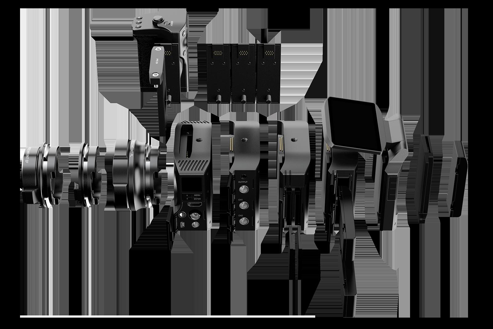 Craft : la modularité est-elle le futur des caméras ? - eclaté