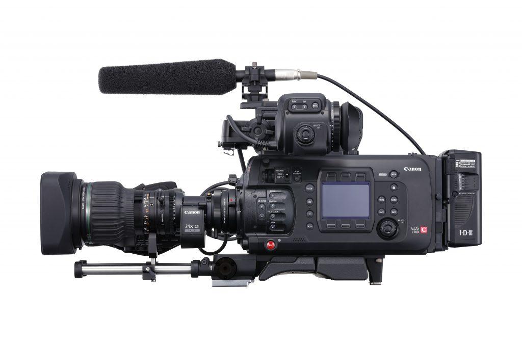 Canon EOS C700 : vue de côté