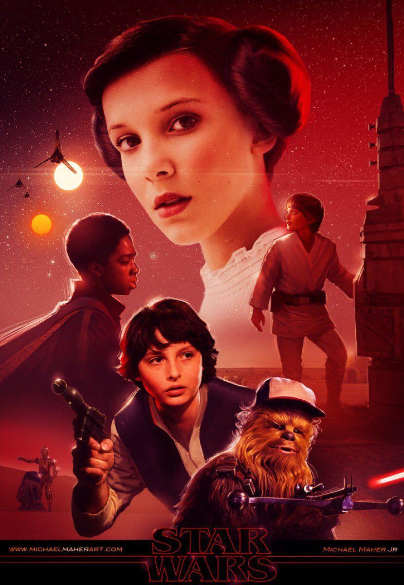 Header Post 2018-01-03 - Stranger Thins Star Wars Michael Maher
